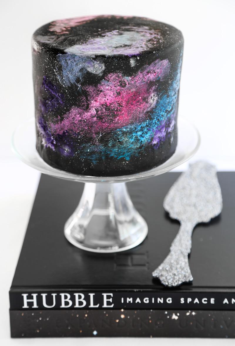 Galaxy Black Velvet Cake