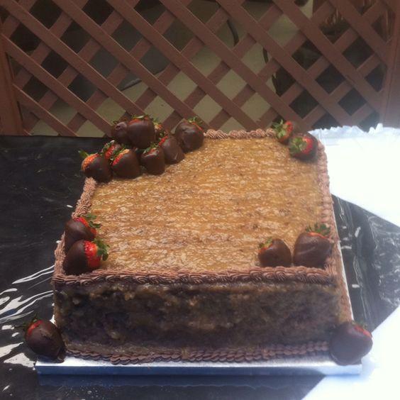 German Chocolate Grooms Cake