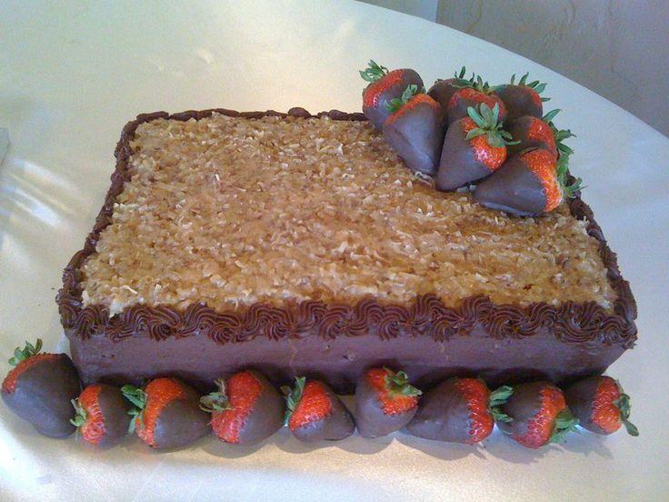 German Chocolate Grooms Wedding Cake