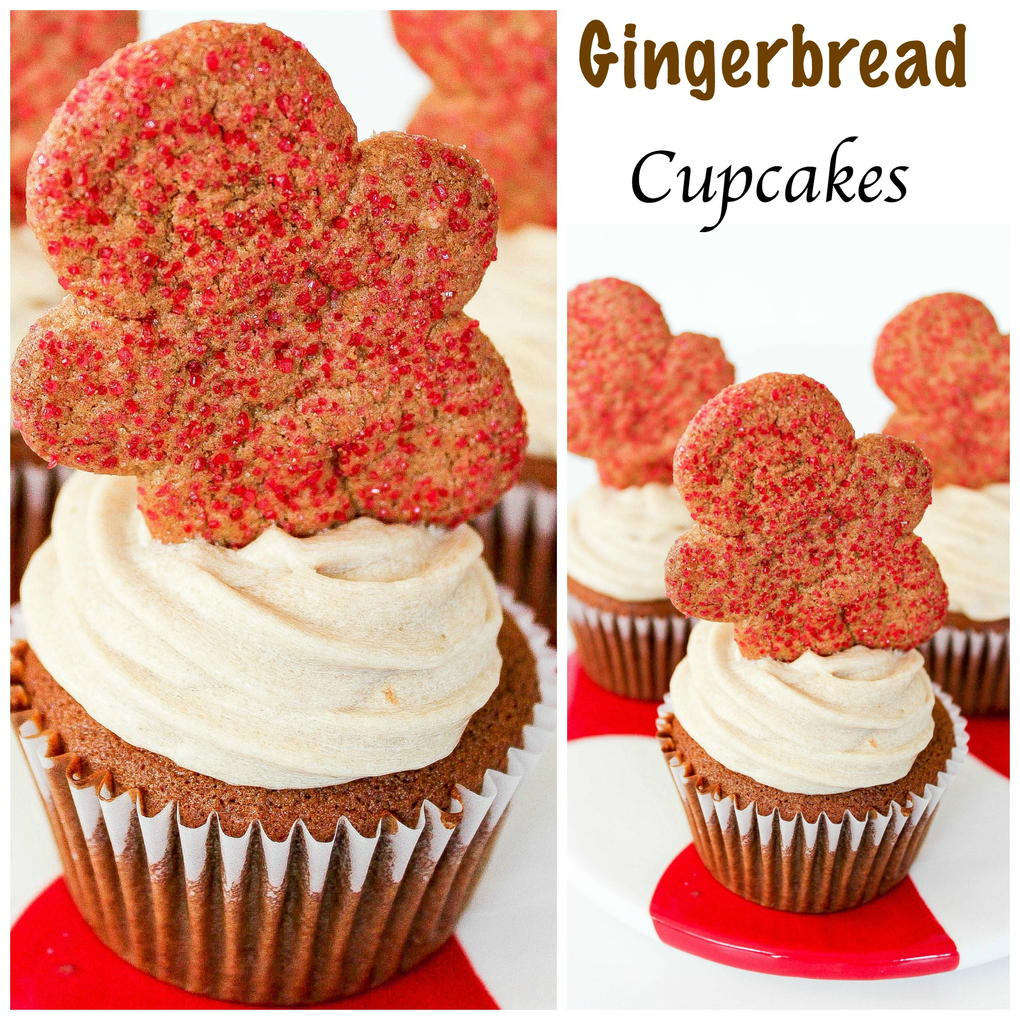 Gingerbread Cookie Cupcakes From Mix