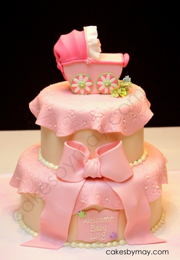 Girl Baby Shower Carriage Cake