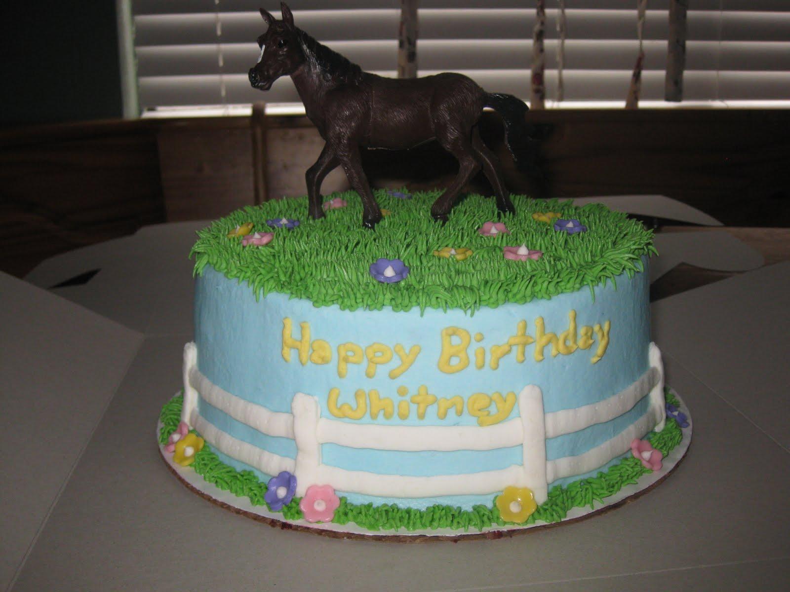 Girls Horse Birthday Cake