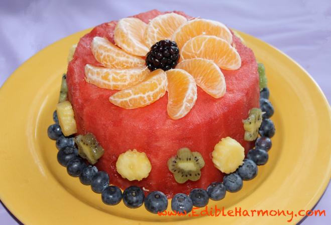Gluten Free Fruit Birthday Cake