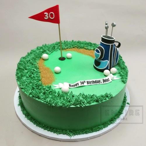 Golf Birthday Cake