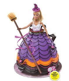 Halloween Barbie Doll Cake