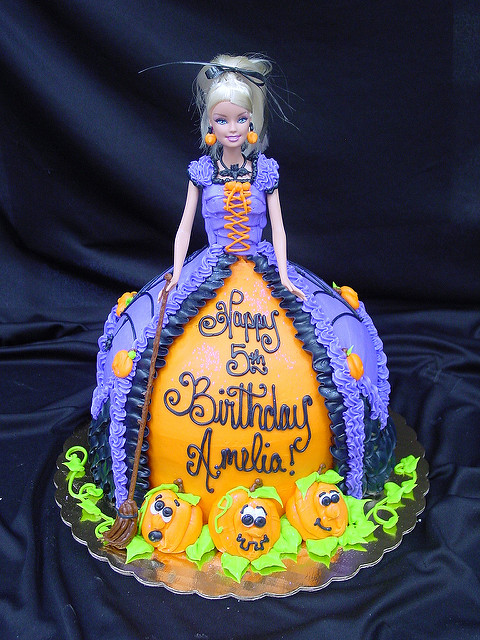 Halloween Birthday Cakes Barbie