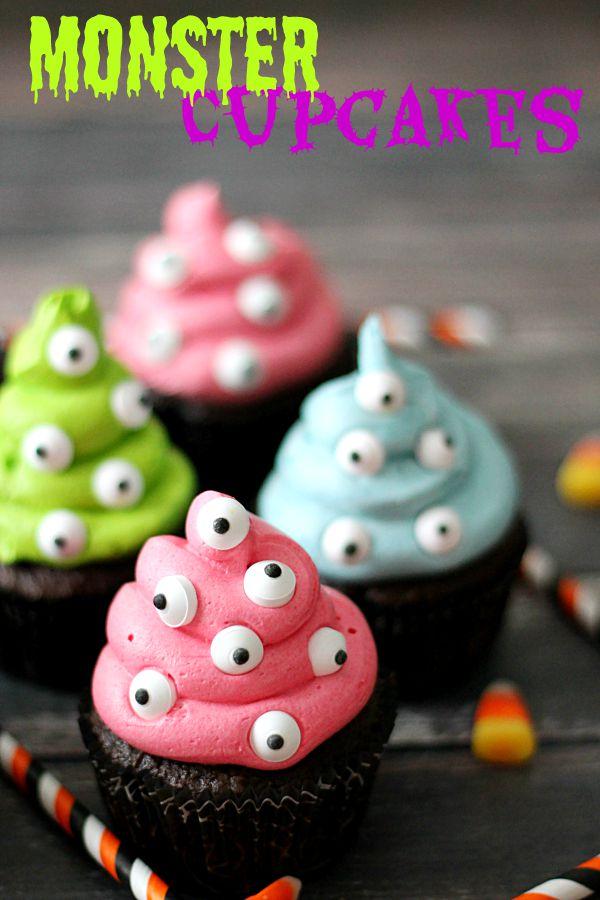 9 Photos of Halloween Monster Cakes Cupcakes