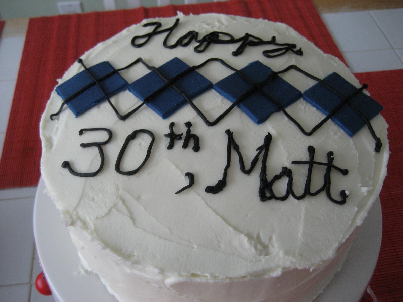 Happy 30th Birthday Cake Matt
