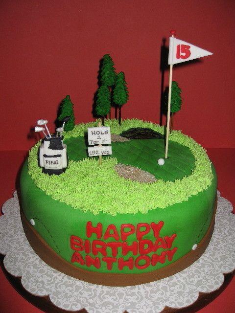 Happy Birthday Golf Cake