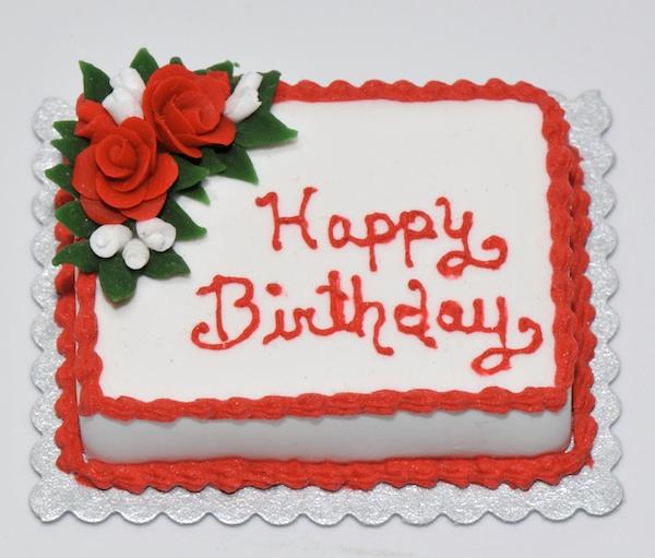 Happy Birthday Red Cake