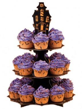 Haunted Manor Cupcake Stand