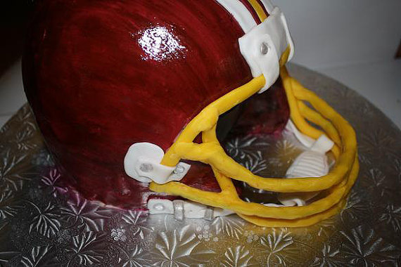 How to Make 3D Football Helmet Cake