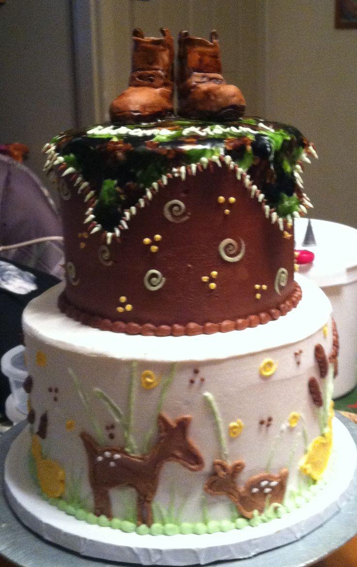 Hunting Theme Baby Shower Cake