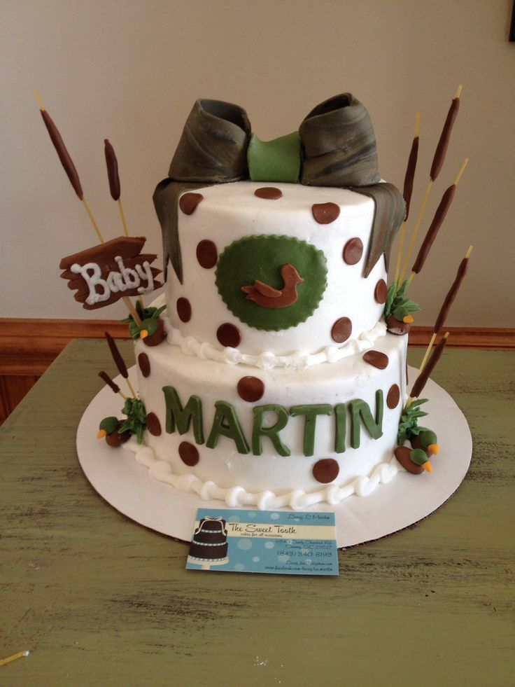Hunting Themed Baby Shower Cake