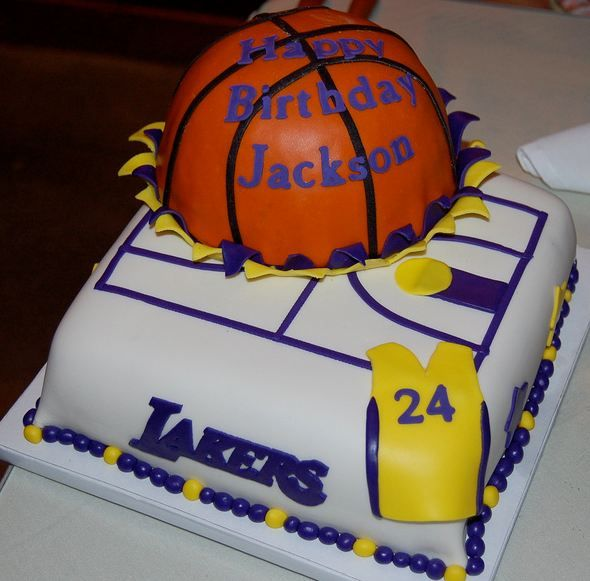 Fantastic 11 Birthday Cakes For Girls Basketball Trophy Photo La Lakers Funny Birthday Cards Online Benoljebrpdamsfinfo