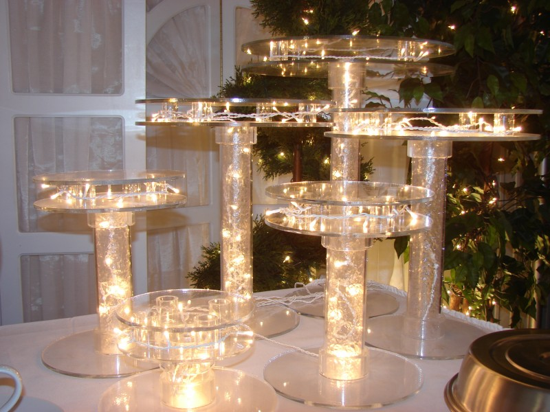 Lighted Acrylic Cake Stands
