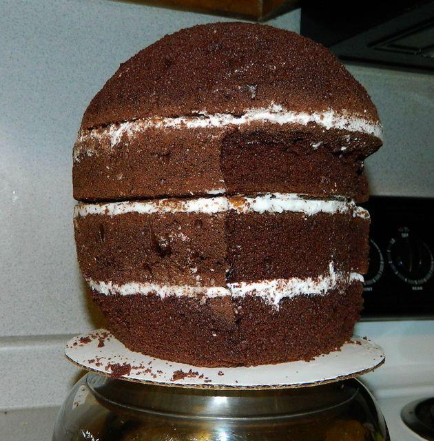 Make Football Helmet Cake