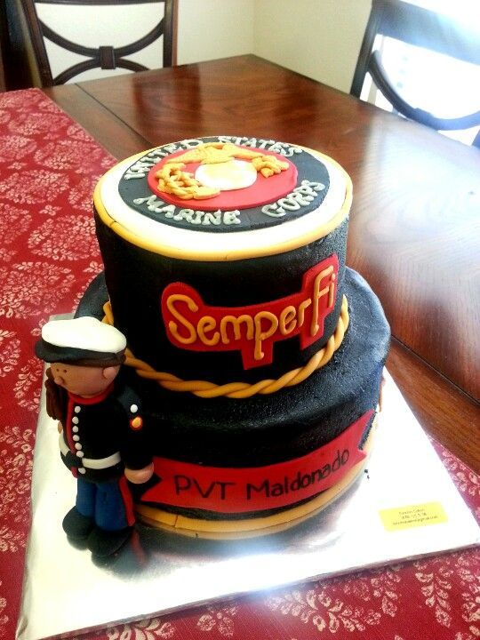 Marine Boot Camp Graduation Cake