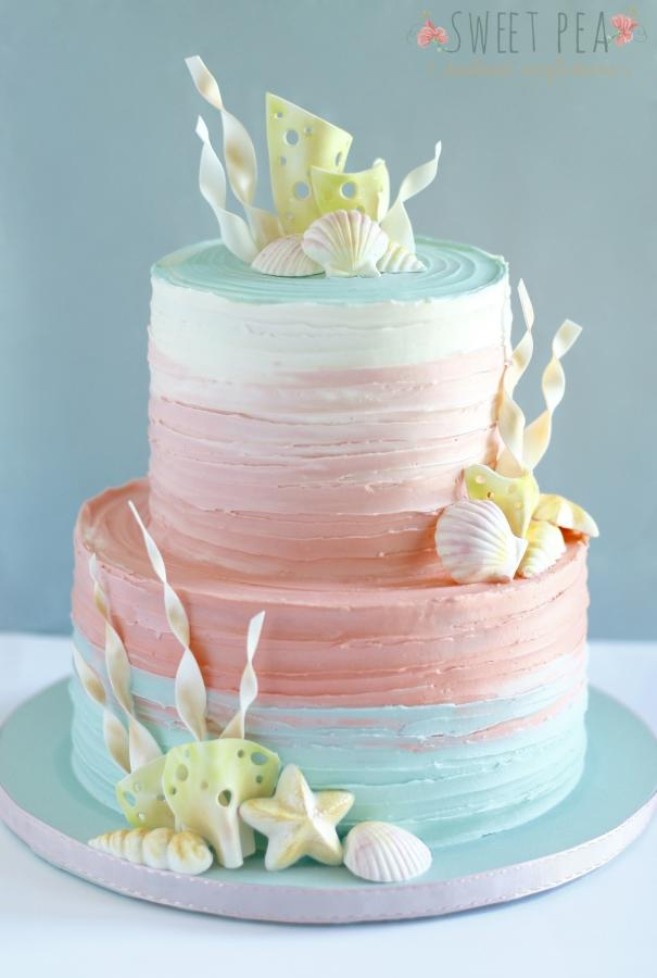Mermaid Birthday Cake Buttercream