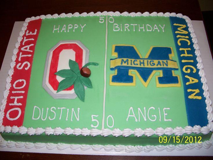 Michigan vs Ohio State Birthday Cake