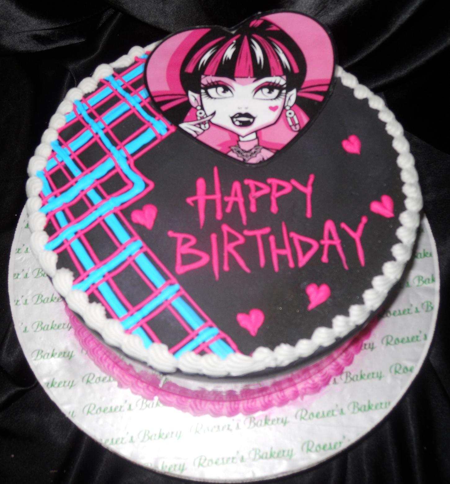 Monster High Birthday Cake