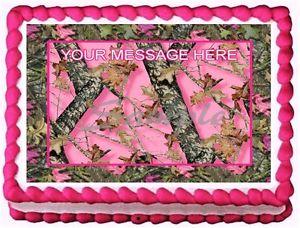 Mossy Oak Pink Camo Baby Shower Cake
