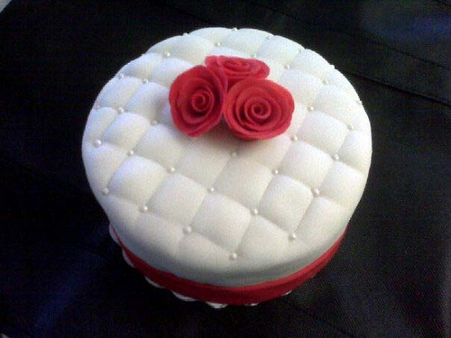 Mother's Day Fondant Cake Roses