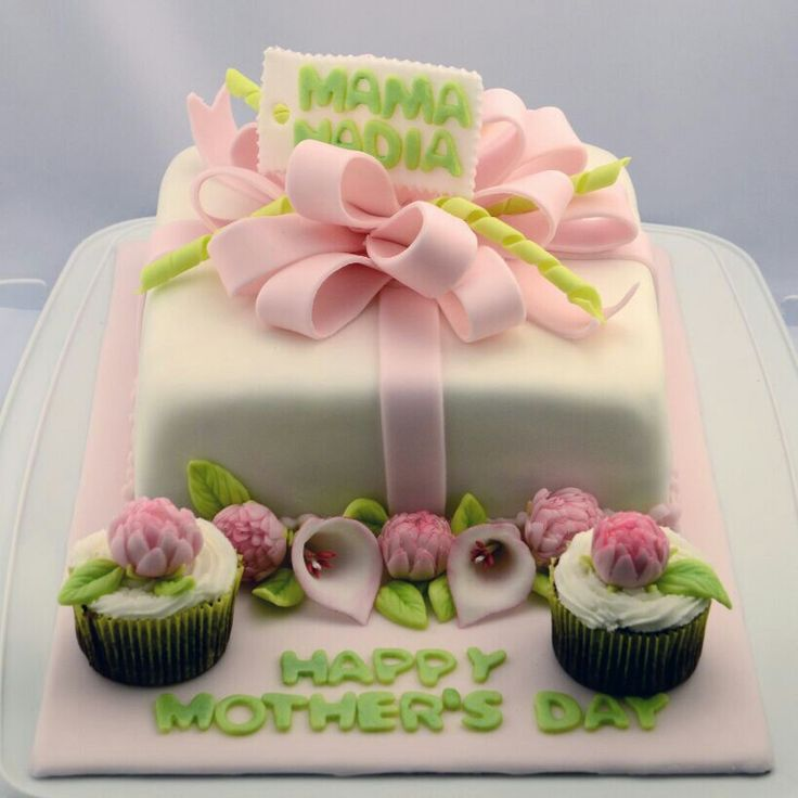 Mother's Day Fondant Cake