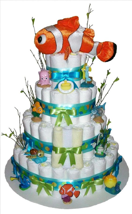 Nemo Baby Shower Diaper Cake