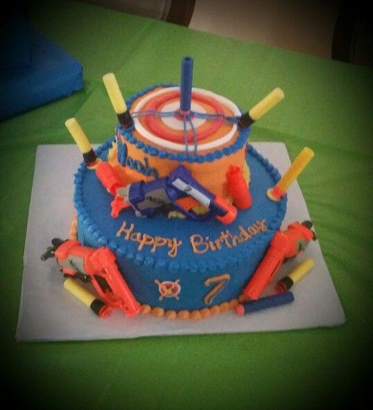 Nerf Birthday Cake Ideas