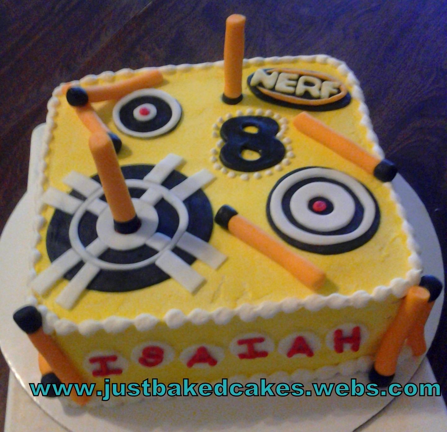 Nerf Themed Birthday Cake