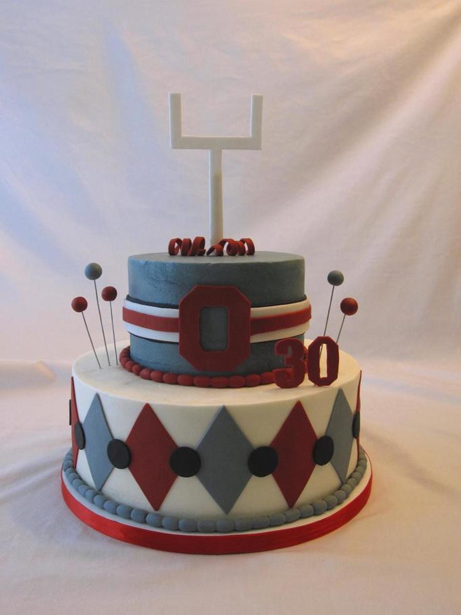 Ohio State Buckeyes Birthday Cake