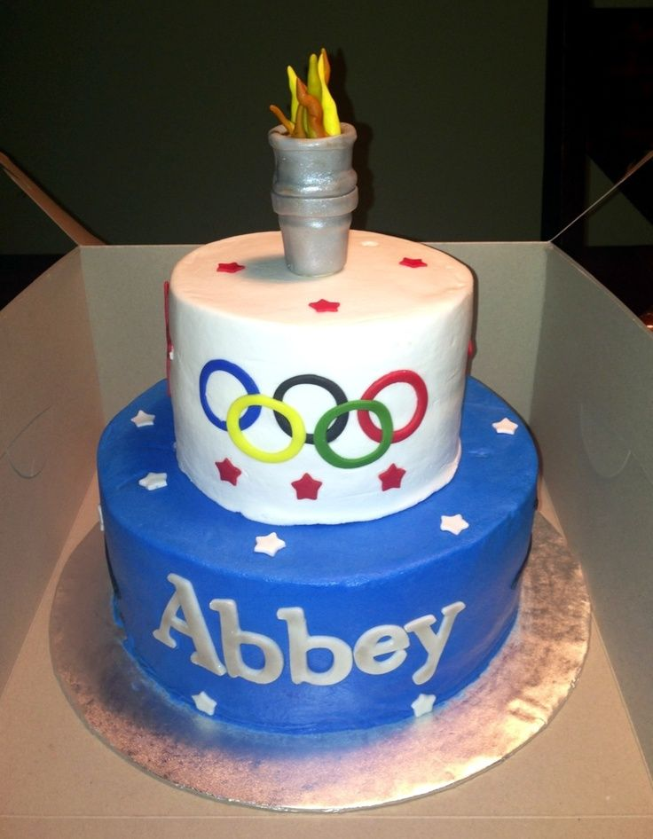 Olympic Themed Birthday Cake