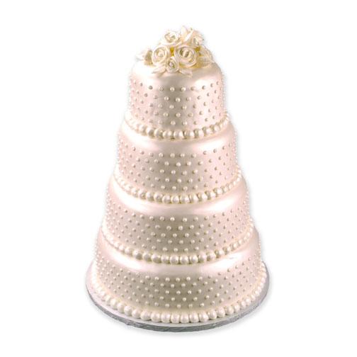 Pearl Shimmer Wedding Cake