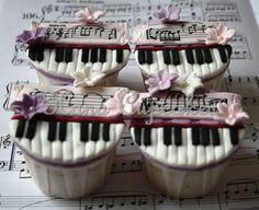 Piano Music Cupcakes