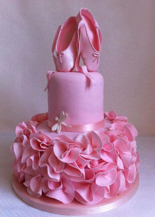 Pink Ballerina Fondant Cake