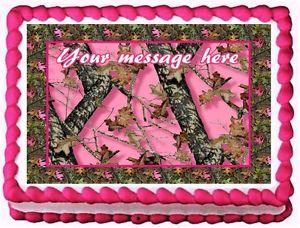 Pink Camo Sheet Cake