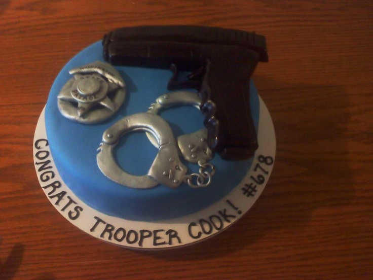 Police Academy Graduation Cake Ideas