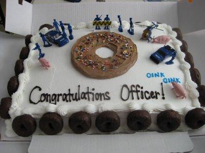 Police Graduation Cake Designs