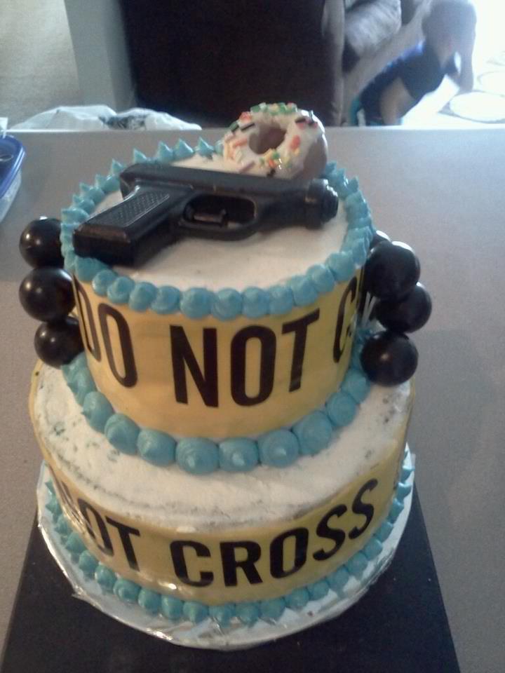 Police Graduation Cake Ideas