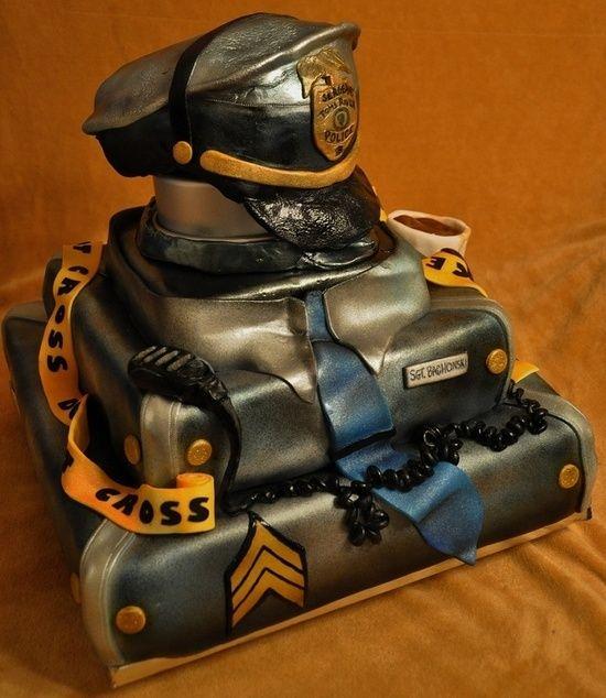 Police Officer Retirement Cake Ideas