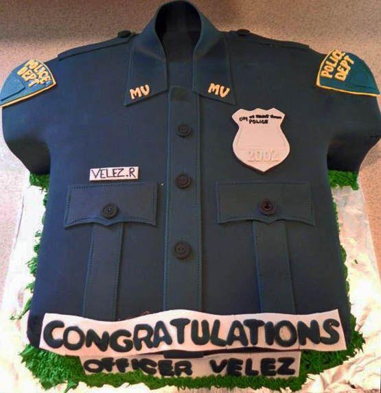 Police Officer Shirt Cake