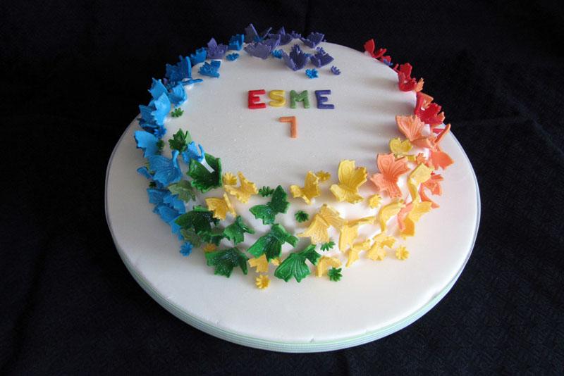 Rainbow Birthday Cake Butterflies