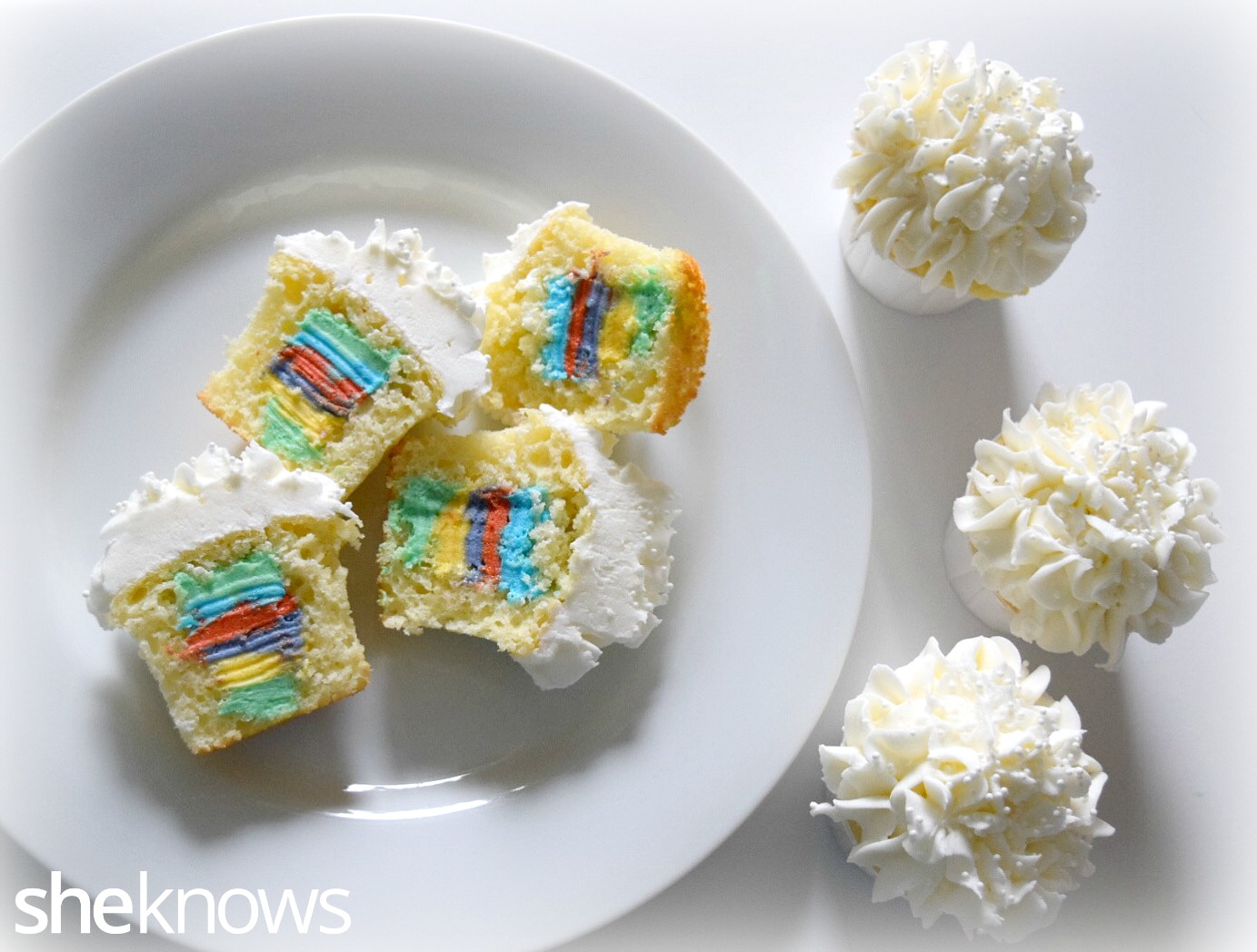 Rainbow Cupcake with Filling