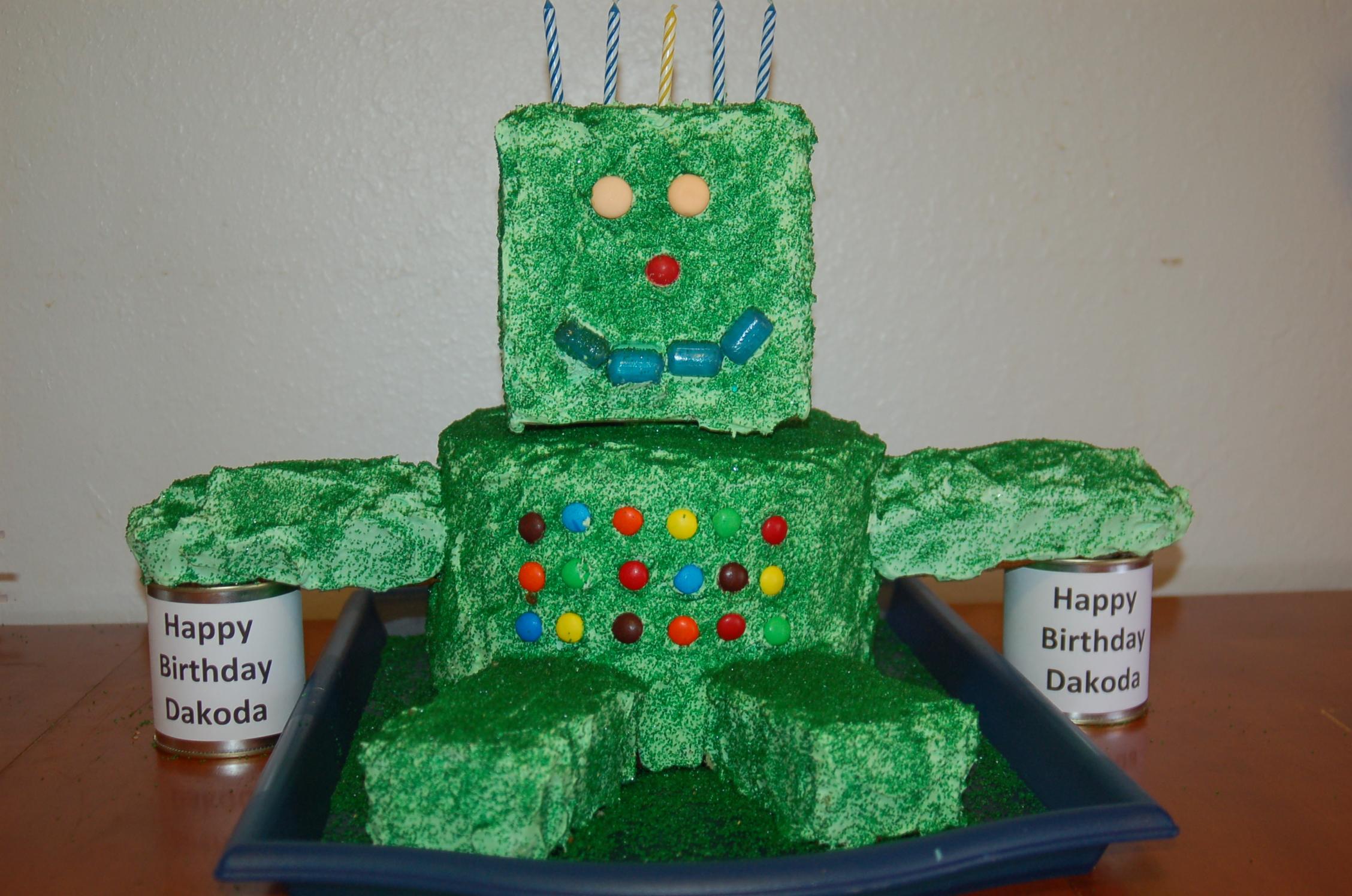 Robot Birthday Cake Ideas