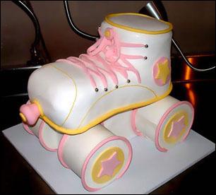 Roller Derby Birthday Cake