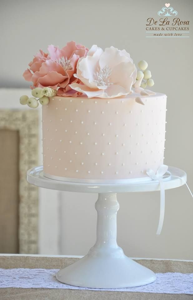 Soft Pink Baby Shower Cake
