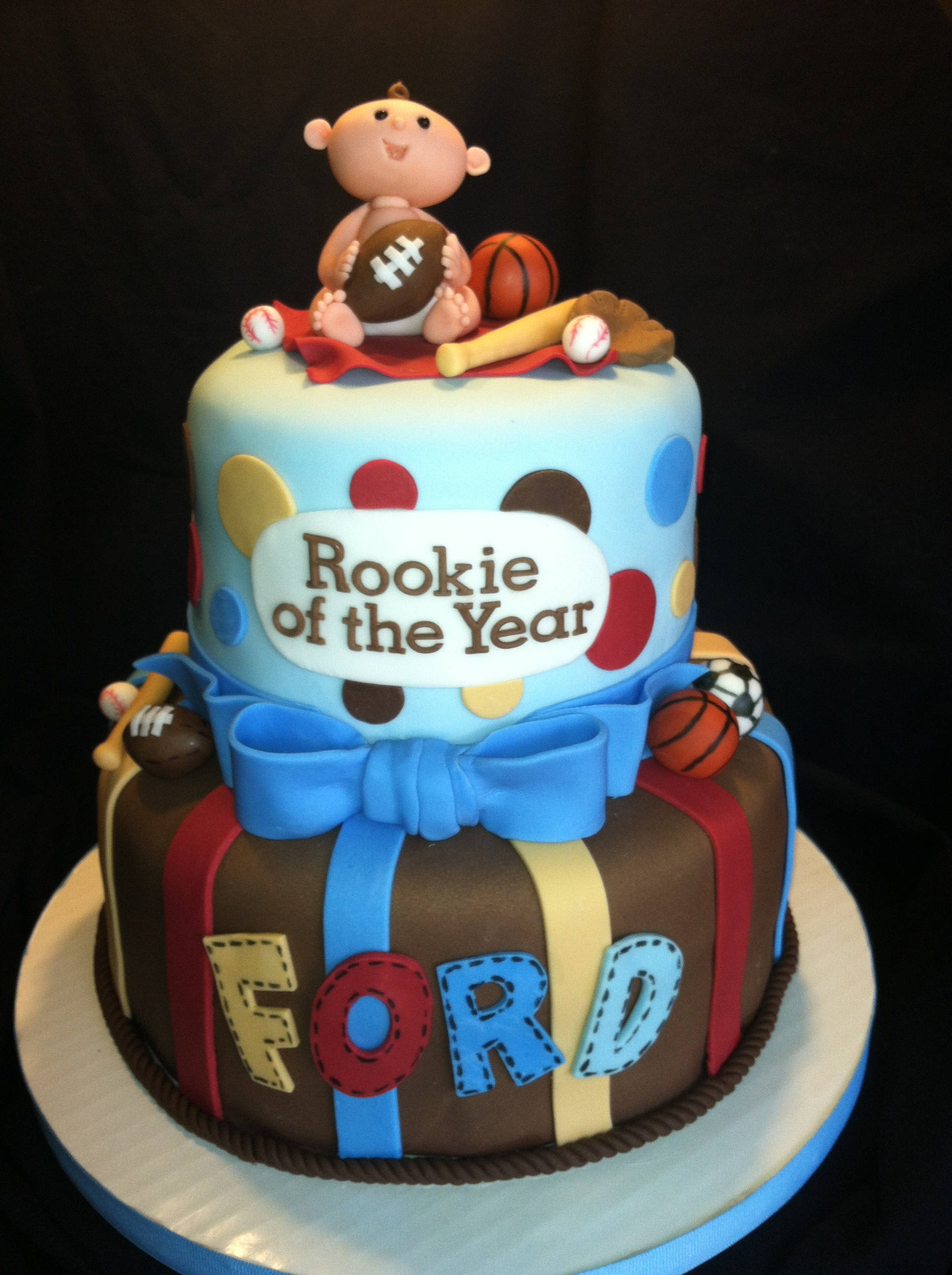 Sports Themed Baby Shower Cake - Baby
