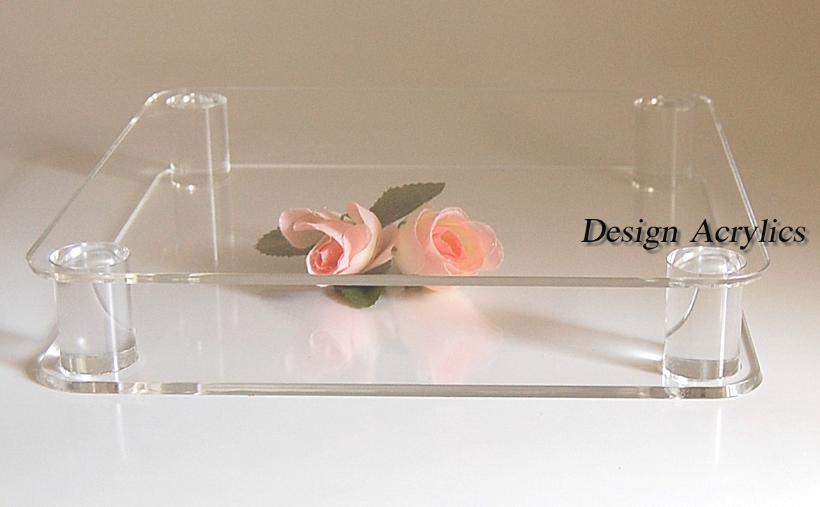 Square Acrylic Wedding Cake Stands