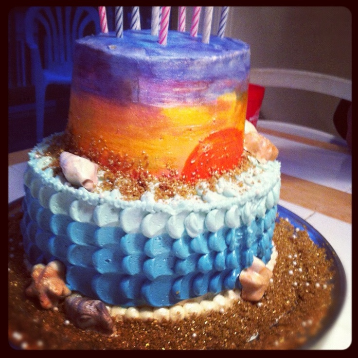 Sunset Beach Birthday Cakes